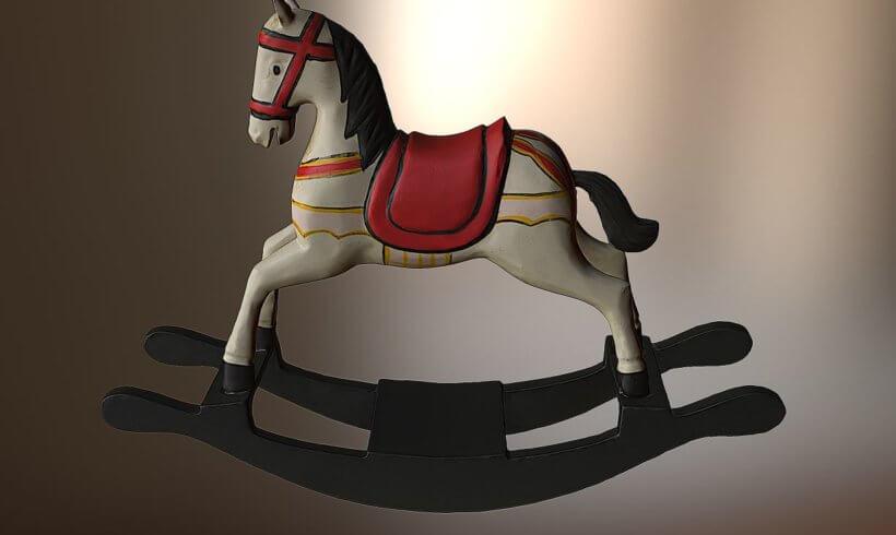 3D Scan wooden horse as requisite
