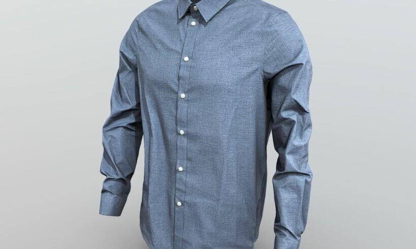 3D model Pier One shirt blue